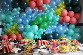 Tropical Balloon Wall and Graze Table