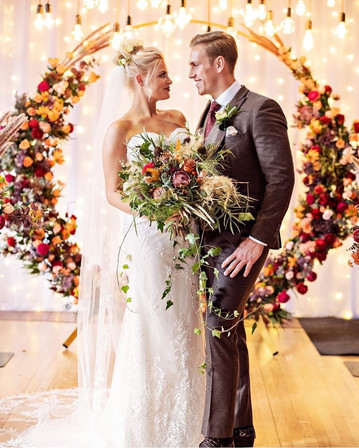 Autumn Wedding Ceremony Decor