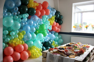 Tropical Balloon Wall and Graze Table 1