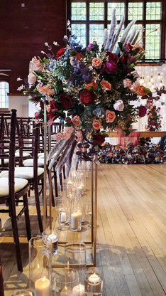 Autumn Wedding Aisle Decor