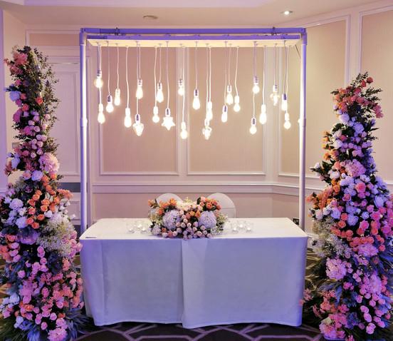 White Wedding Ceremony Table