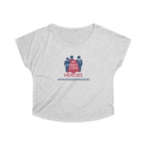 Patient Care Heroes Women's Tri-Blend Dolman