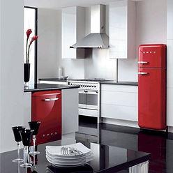 cuisine électroménager smeg qualité esthétique aménagement rénovation frigo italien design