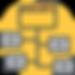 Data Itegration Icon on Yellow