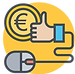 Cost Effective Icon on Yellow