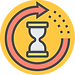 Saving Time Icon On Yellow