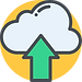 Cloud Upload Icon on Yellow