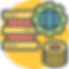 Sontai Data Modelling Icon on Yellow