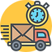 Express Delivery Icon on Yellow