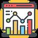 Data Visualisation Icon on yellow background