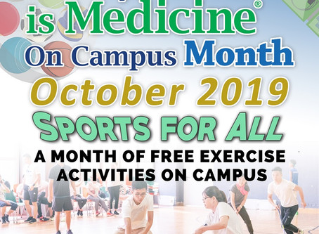 Exercise is Medicine on Campus Month is Here!!