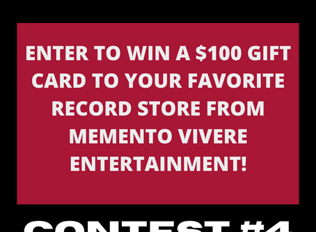 Memento Vivere Entertainment $100 Record Store Gift Card Contest!