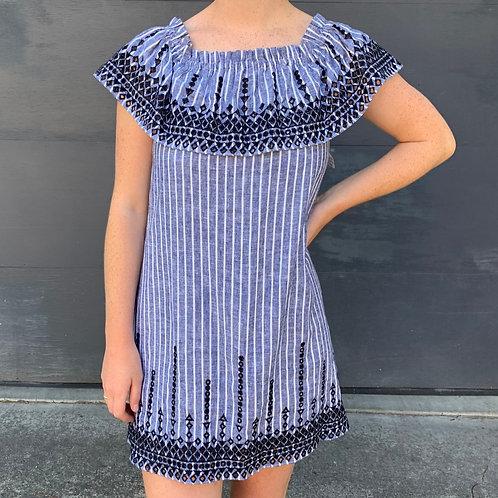 Parker Embroidered Linen Dress