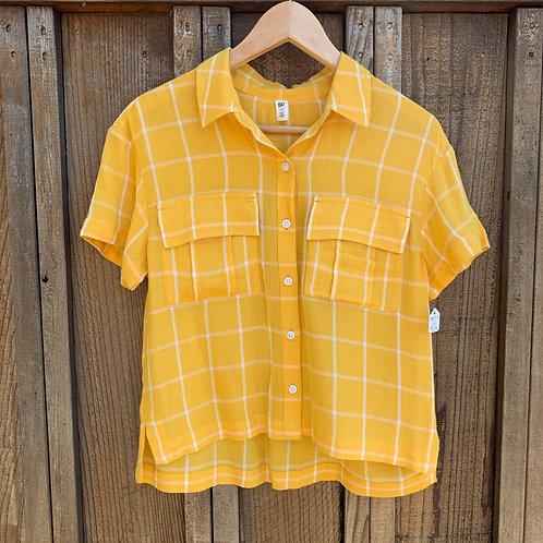 Yellow Plaid Top