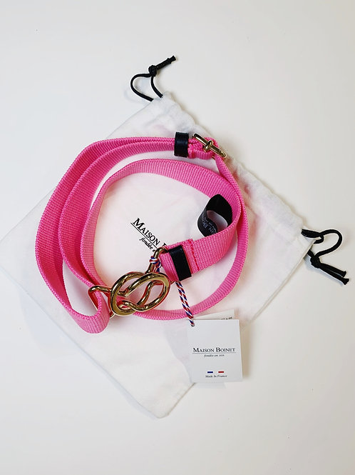Hot Pink Canvas Belt