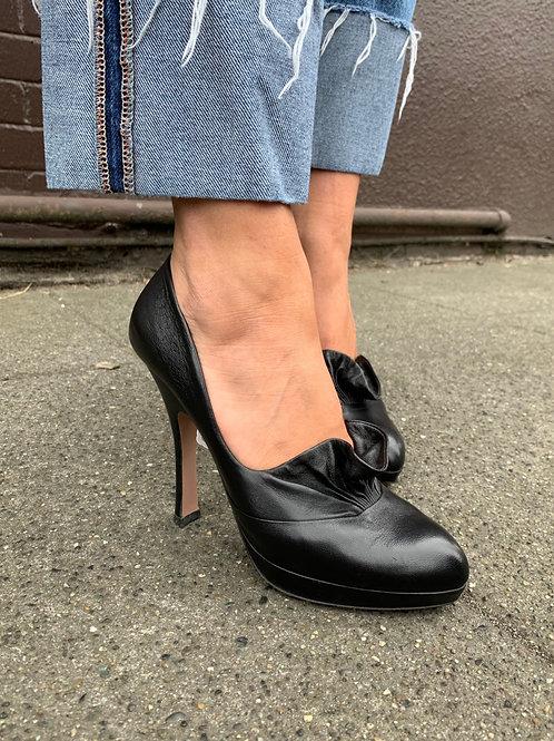 Ruffle Toe Prada Heels