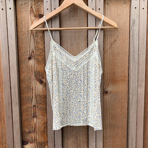 Ditsy Floral & Lace Tank