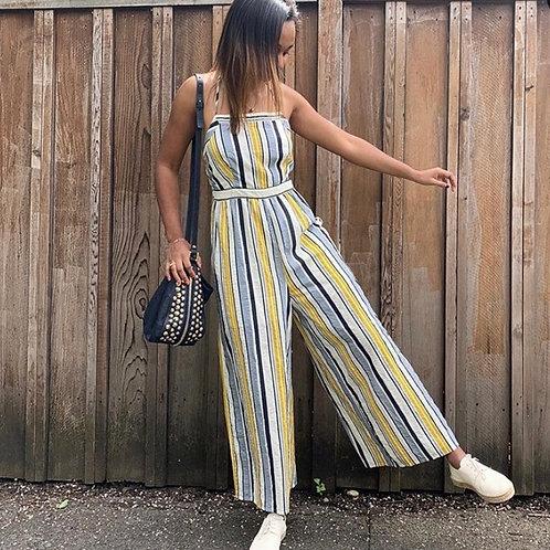 Summer Stripe Jumpsuit