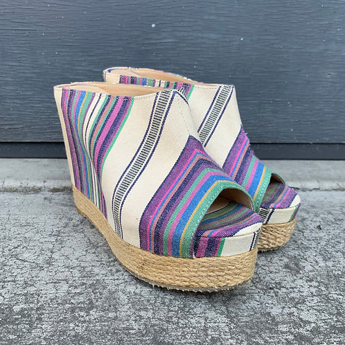 Abstract Espadrille Wedges