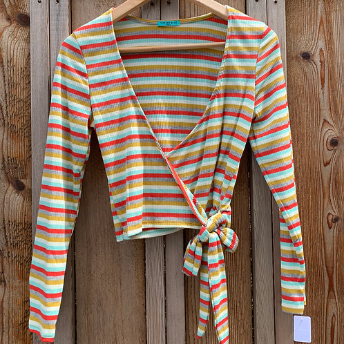 Striped Knit Wrap