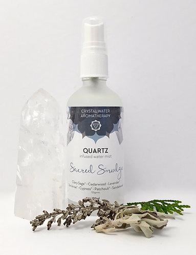 Sacred Smudge with Quartz
