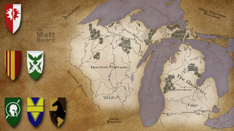 Fantasy Football Map - MI/WI