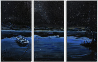 Night Time Lake Triptych (1 of 3)