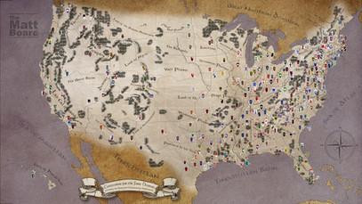 Fantasy Football Map of the US