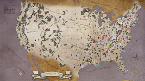 Fantasy Football Map of the US