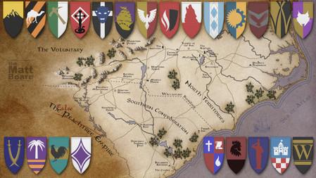Fantasy Football Map - NC/SC