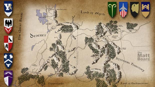 Fantasy Football Map: Utah and Colorado