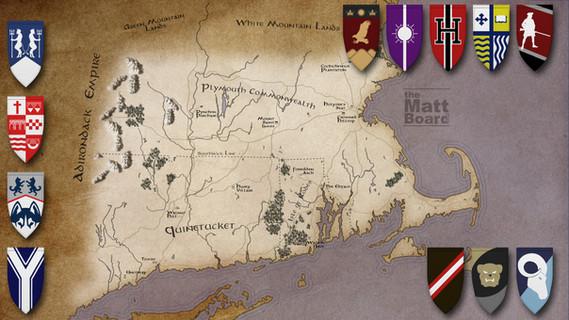 Fantasy Football Map - CT, MA, RI