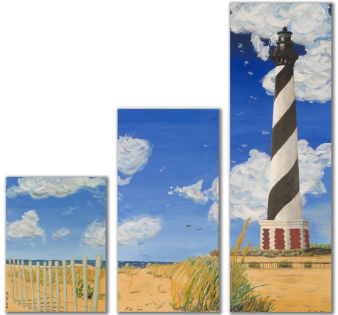 Lighthouse Triptych