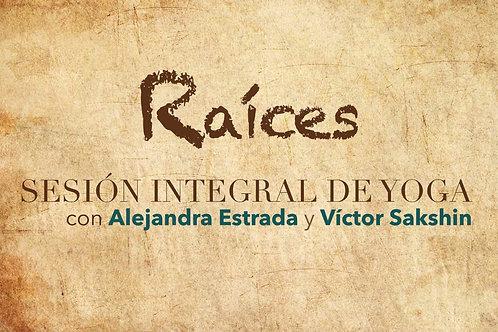 Sesión integral de yoga con Alejandra Estrada y Victor Sakshin