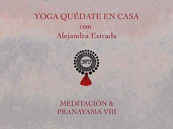 Meditación y Pranayama VIII