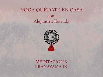 Meditación y Pranayama IX