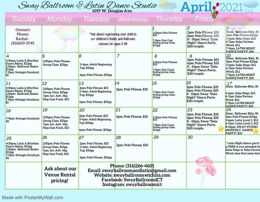 Copy of Sway Ballroom Group Calendar Mar