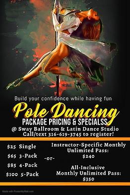 Copy of pole dancing classes template -