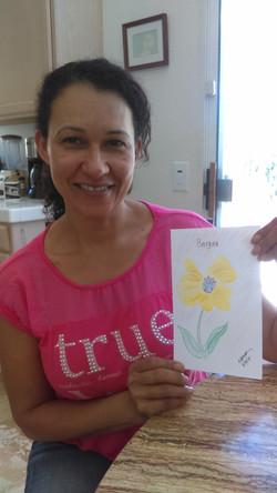 Olivas, Gina with Art