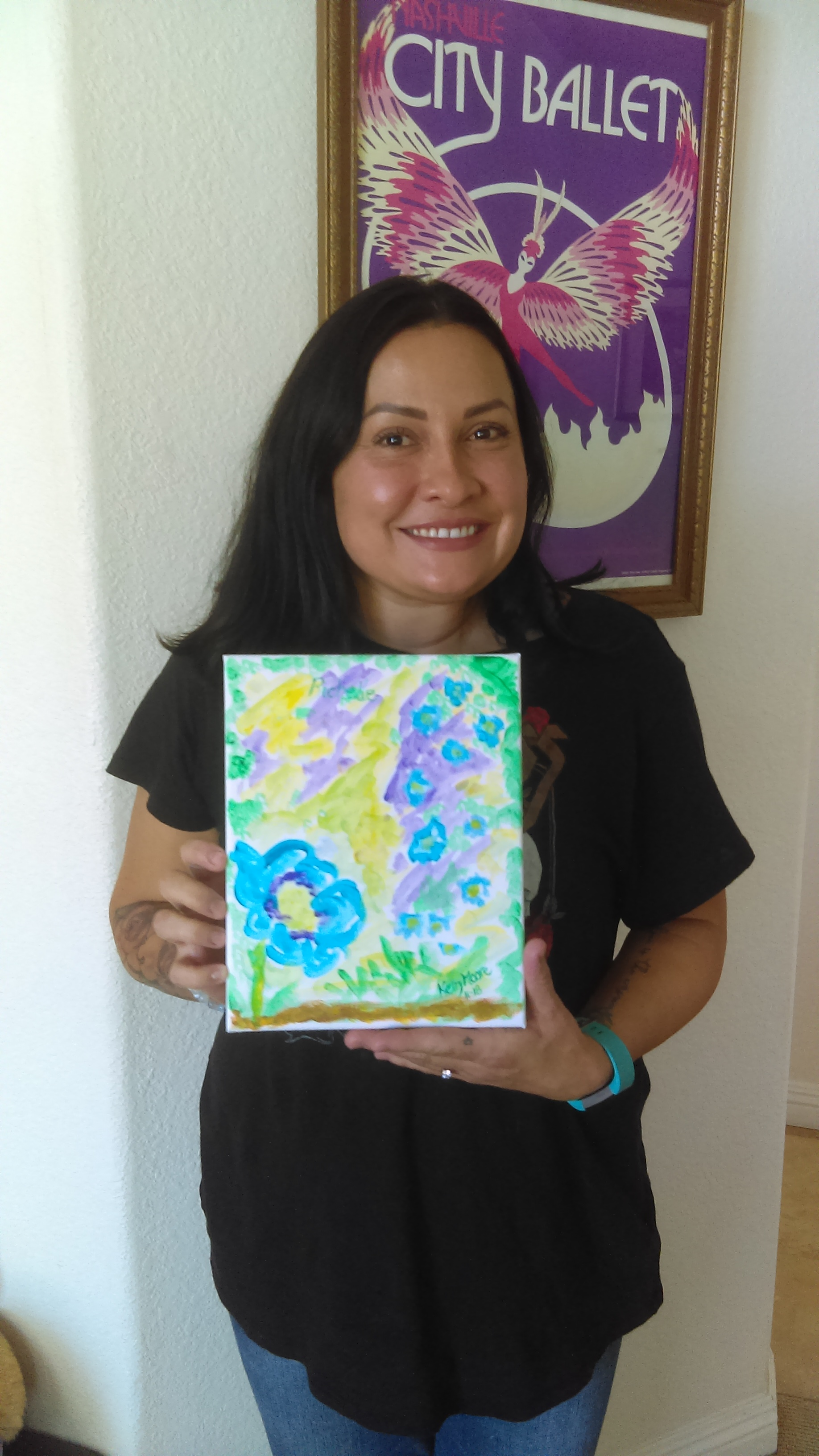 Richelle with Spirit Art