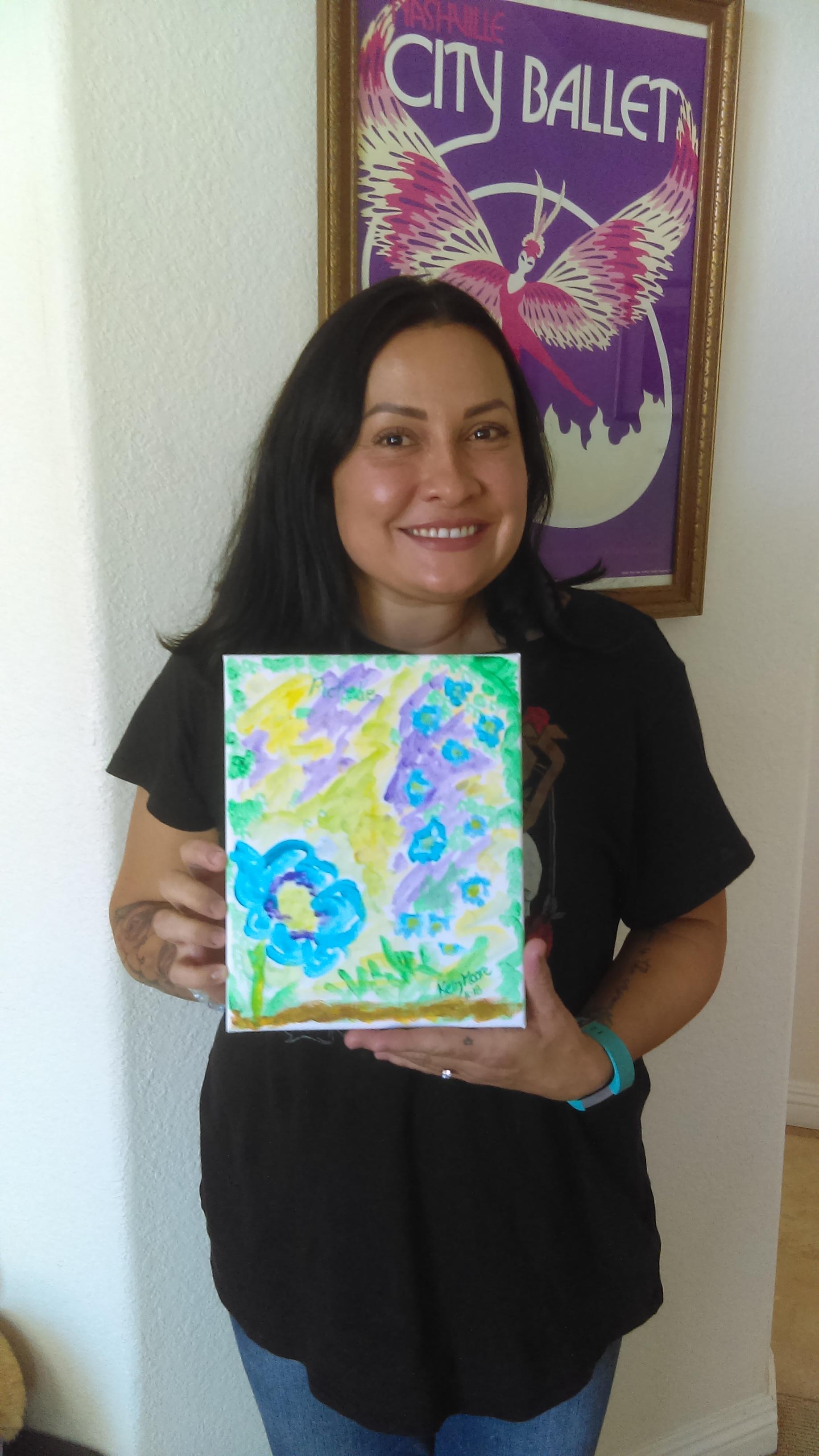 Richelle with Spirit Art
