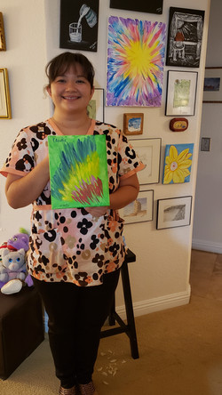 Claudia Leal with Art