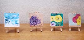 Acrylic on 3 x 3 Canvas with Mini Easel