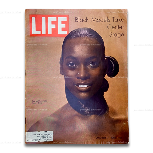 "Life, October 17, 1969. ""Black Models Take Center Stage"" cover with Naomi Sims."
