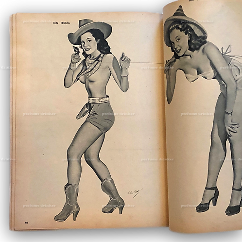 Lot of 6 WWII-era Wartime Pinup Comic Magazines, 1940s.