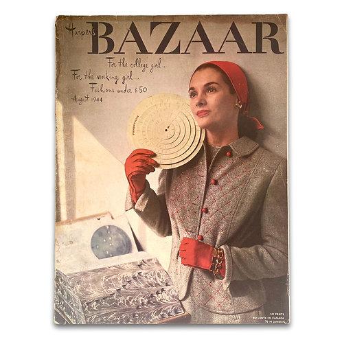 WWII-era Harper's Bazaar, August 1944. Cover by Louise Dahl-Wolfe.