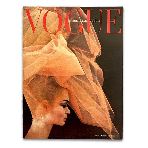Vogue UK, December 1962. Jean Shrimpton portraits by David Bailey.