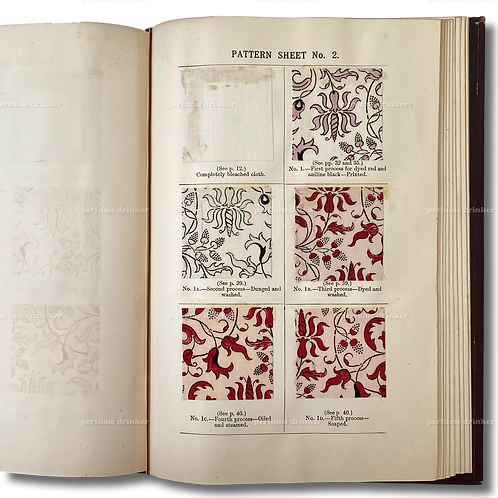 Bleaching and Calico-Printing, 1896. With full set of 114 fabric samples.