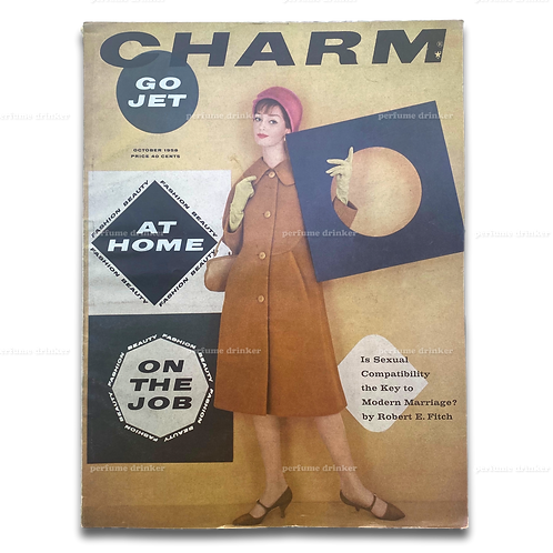 Charm Magazine, October 1958. Jet Travel Edition. Scarce.