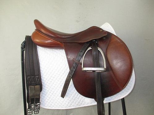 "Bates Caprilli Jump Saddle 16.5"""